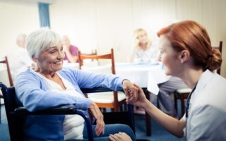How can long-term care providers support residents' with challenging behavior?